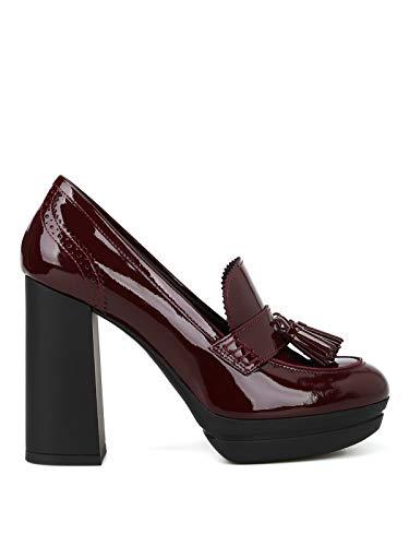 Hogan Women Mocassini H391 in Vernice con Tacco Alto Court Shoes