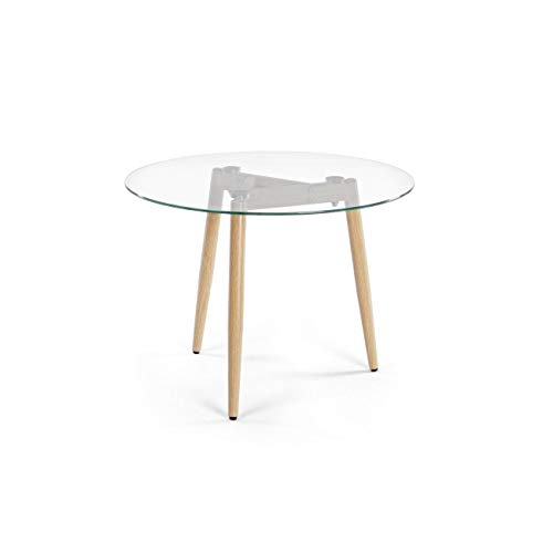ARREDinITALY Table Design Plan Verre Rond diamètre 60