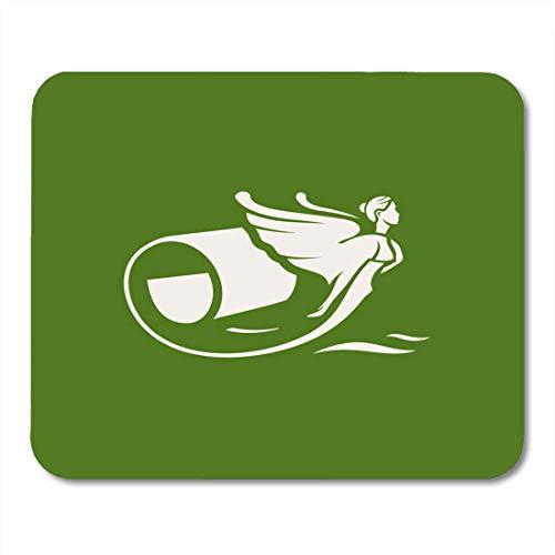 Luancrop Mauspads Brand Decorator Interior Branding Identity Corporate Design Grüne Rolle Abstrakte Mausunterlage für Notebooks, Desktop-Computer Mauspads, Bürobedarf -