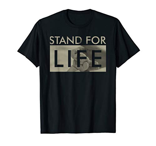 PRO LEBEN - Stand For Life - Baby Hand PRO LIFE Shirt -