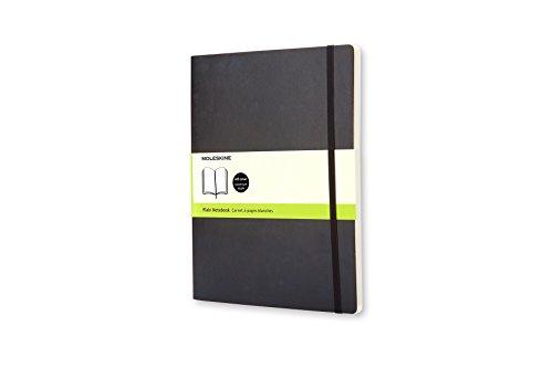 Moleskine Cuaderno clasico, Cubierta flexible, XL, Negro