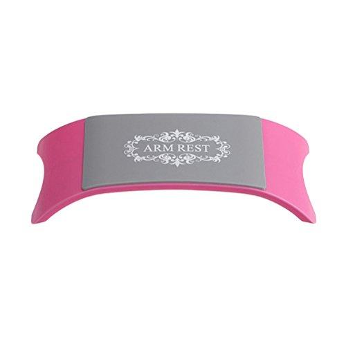 Frcolor Poggiamano in silicone Cuscino per unghie artistiche Supporto per mani Poggiamano Nail art Strumenti per manicure (Rosa)