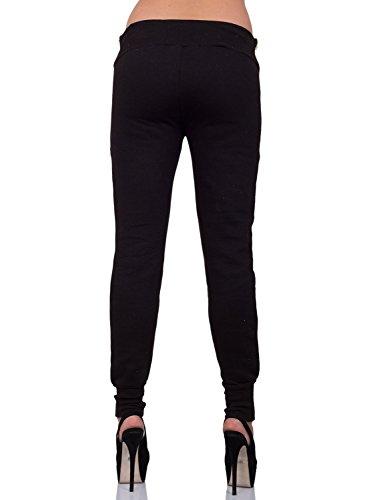 GIOVANI & RICCHI - Pantalon de sport - Femme Noir - Noir