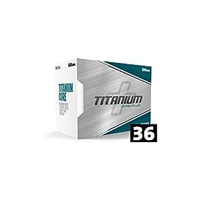 WILSON Golfbälle 36er Pack 3 Dutzend MEGA Pack Distance Titanium Core+Plus Weiß