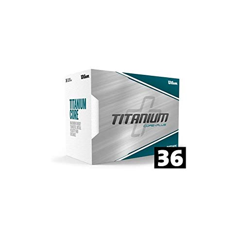 WILSON Golfbälle 36er Pack 3 Dutzend MEGA Pack Distance Titanium Core+Plus Weiß -