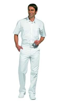 LEIBER Herrenhose weiß mit Dehnbund - Arzthose, Laborhose (25)