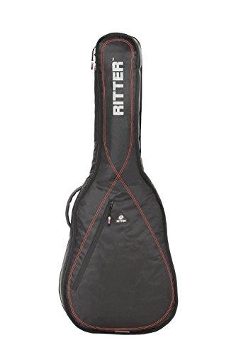 Ritter RGP2-C 4/4 CLAS - Funda/estuche para guitarra acustica-clasica, con tejido repelente al agua, color negro