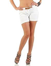 Vero Moda Damen Leinen Shorts Sommershorts Comfort Fit Bermudas Sommerhose