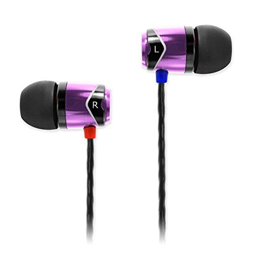 SoundMAGIC E10 Écouteurs intra auriculaires smartphone écouteurs haute fidélité Oreillettes  haute qualité Casques Réduction de Bruit - Pourpre