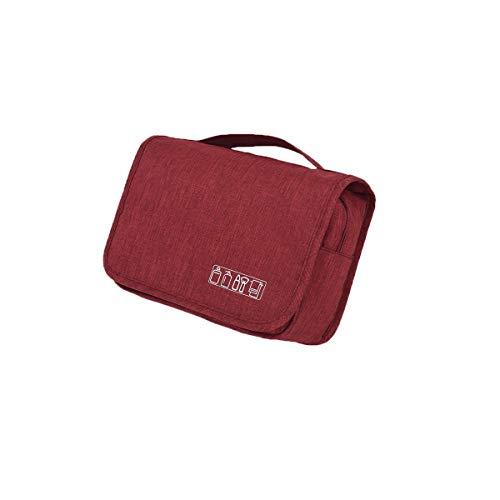 Sac de toilette suspendu de haute qualité pour hommes et femmes, organisateur de voyage parfait pour le voyage (Color : Red)