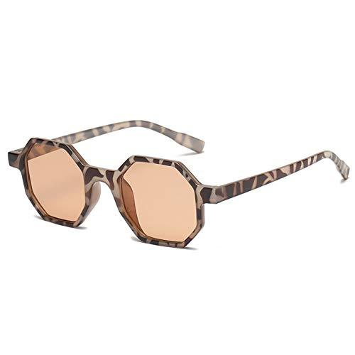 Kjwsbb Octagon Sonnenbrille Frauen Retro Polygon Kunststoffrahmen Unisex Männer Coole Sonnenbrille Rosa Schwarz