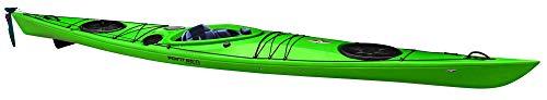 Kajak Seacruiser von Point65 professioneller Seekajak Tourenkajak Wanderkajak, Farbe:Grün;Ausstattung:Mit Skeg/Ruder und Air Sitz