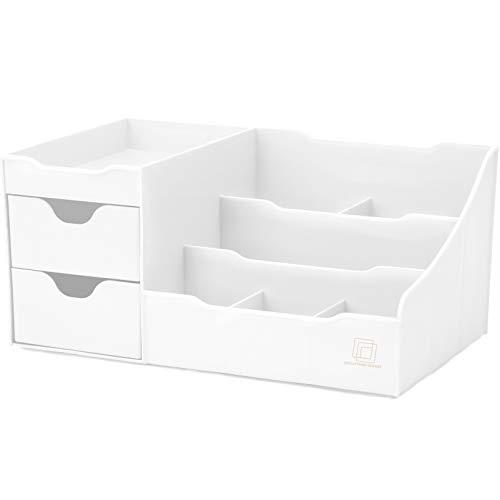 Uncluttered Designs Make-up Organizer Mit Schubladen (2 Schublade, Weiß)