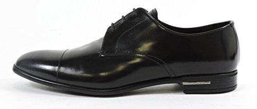 Prada chaussures à lacets classiques homme en cuir fume derby noir Noir