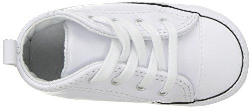Converse First Star Cuir, Baskets mode mixte bébé-Blanc, 18 EU Blanc