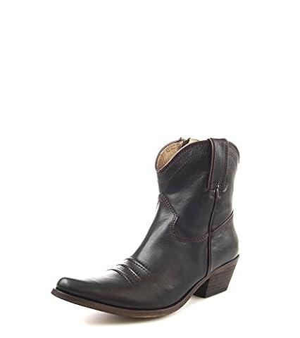 Fashion boots fW1002 westernstiefelette bottines pour femme (plusieurs coloris) - Marron - Marron foncé, Taille 40 EU