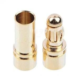 3.5mm Gold Bullet Banana Connector Plug For ESC Battery Motor