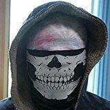 elegantstunning Totenkopf Skelett Face Maske mit Zähnen Tube Halstuch Sturmhaube Snowboard Moto X Face Schutz Harley Davidson Snowboard Ski Maske Multi-Funktion Tactical Nahtlos