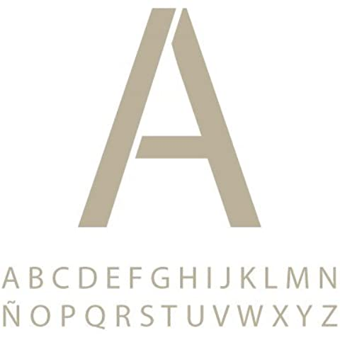 Stencil Mini Deco Abecedario 011 Myriad Pro. Medidas aproximadas: Medida exterior del stencil: 8 x 8 cm Alto de las letras: 5