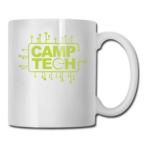 Daawqee Becher Porcelain Coffee Mug Camp Tech Ceramic Cup Tea Brewing Cups for Home Office (John Coffee Kostüm)