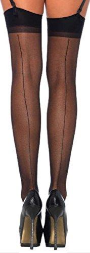 La - calze per reggicalze - donna nero nero taglia unica