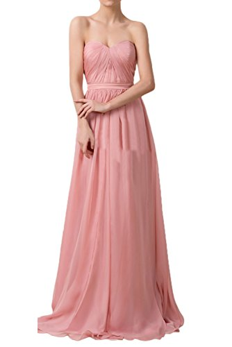 Gorgeous Bride Fashion Traegerlos Empire Chiffon Lang Schleppe Abendkleid Festkleid Ballkleid Traegerlos