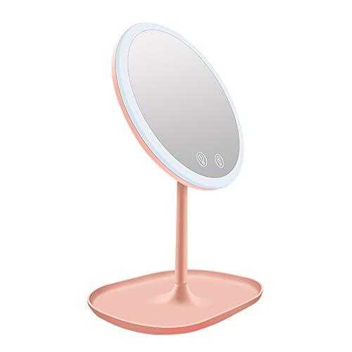 LIU UK Makeup Mirror Schminkspiegel LED Beleuchtet Mit 10-Facher VergrößErung USB-Wiederaufladbarer Vanity-Spiegel Touchscreen Dimmbares LED-Licht FüR Arbeitsplatten - Schwanenhals Vanity Licht