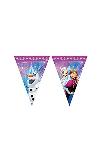 Procos 86921 Filare Wimpelkette Disney Frozen Northern Lights, mehrfar