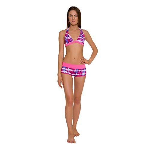 GlideSoul Damen Collection Bikini Shorts Pink Td Print/ Pink