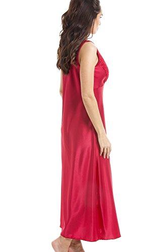 Luxuriöses Nachthemd aus Satin und Spitze - Rot Rot