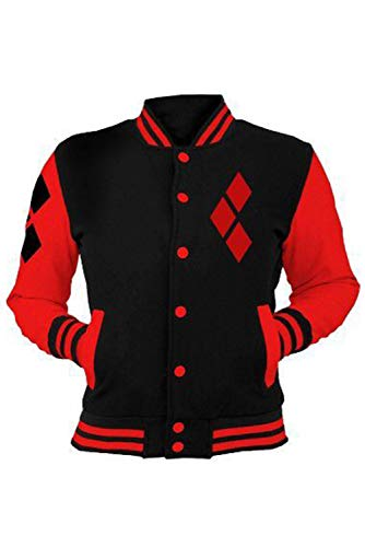 caballeros damas Pull-over Camisa de entrenamiento Imprimir almohadas chaqueta Baseball Suit Jersey Uniforme chaqueta de sudor Desgastar Sudaderas con capucha Jumper Negro Harley Quinn Suicide Squad