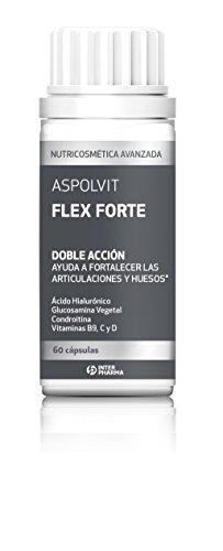 Flex-60 Kapseln (Aspolvit - Flex Forte Nahrungsergänzungsmittel Mit Hyaluronsäure, Vitaminen Und Glucosamin Zur Aufrechterhaltung Der Flexibilität Und Stärkung Der Gelenke - 60 Kapseln)