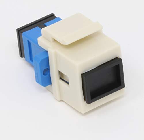 Faser Keystone-Koppler Jack SC Simplex Singlemodefasern SC Duplex Singlemode Light Almond -