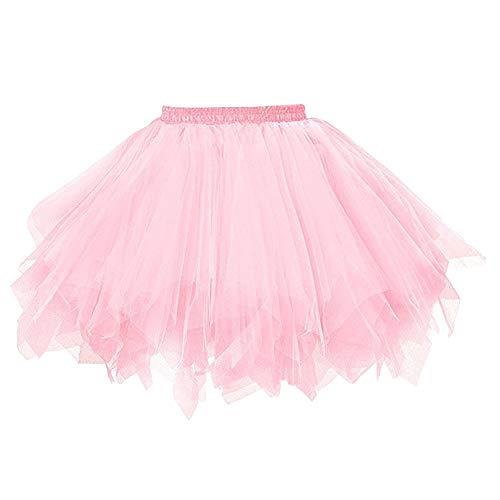 Feoya Damen Vintage Petticoat Unterrock Reifrock für Hochzeit Brautkleid Retro Prinzessin Tutu Rock...