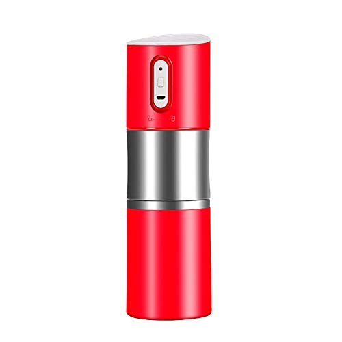 beiguo xia Küchenutensilien & Gadgets, tragbar, automatische Kaffeemaschine, Tassenmühle, Flasche, wiederaufladbar über USB rot (Wiederaufladbare Kaffeemaschine)