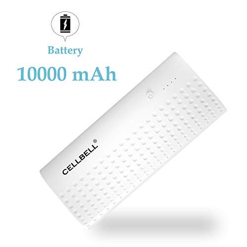 CELLBELL 10000mAH Li ion Power Bank  White  Power Banks
