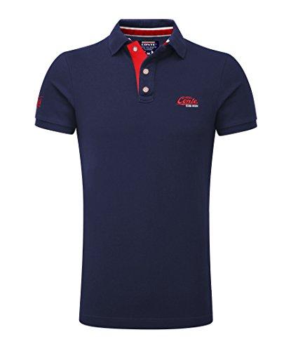 M.Conte Herren Poloshirt Polohemd T-Shirt Polo Pique Basic Men's Plain Royal Blau M L XL XXL XXXL Romano (XXXL, Dunkel-Blau)