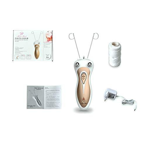 MXECO Depiladora facial de depiladora de hilo de algodón para cara facial de cuerpo eléctrico Máquina de cuidado de belleza para mujeres