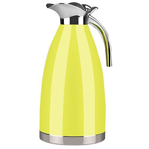 Bollitore per acqua calda per uso domestico isolato in acciaio inox 304 isolamento sottovuoto in acciaio inossidabile lostgaming (colore : giallo)
