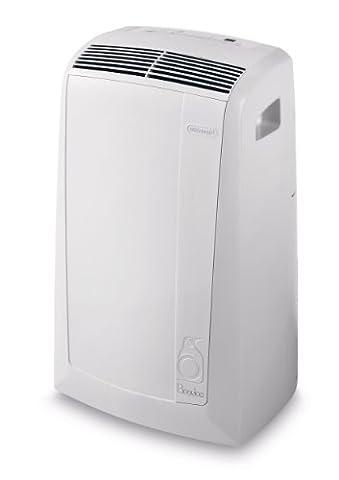 De'Longhi PAC N76 Mobiles Klimagerät (Max. Kühlleistung 2,1 kW/8.200 BTU/h, Separate Entfeuchtungsfunktion, Geeignet für Räume bis 70 m³) [Energieklasse EEK (Klimagerät Delonghi)