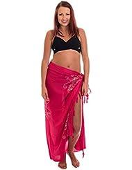 Pareo Sarong Wickelrock Strandtuch Schal Strandkleit Handtuch Wickeltuch ca 170cm x 110cm ink. Schnalle