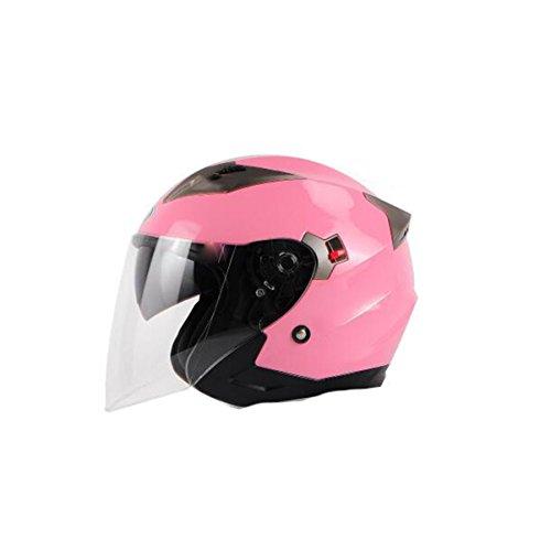 Tzq doppio lente anti-nebbia leggera impermeabile dustproof uomini ladies riding casco casco da corsa alpinismo,pink-onesize