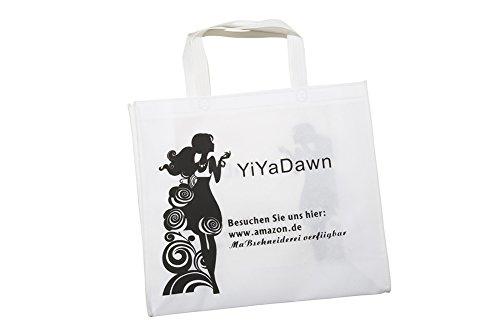 YiYaDawn Vokuhila Kleid Cocktailkleid Brautjungfernkleid mit Blume für Damen Königsblau