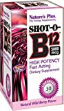 Shot-O-B12, Natural Wild Berry Flavour, 5000 mcg, 30 Lozenges by Nature's Plus
