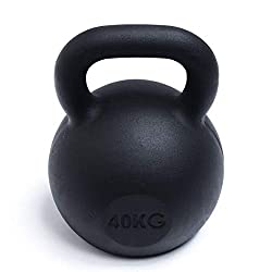 Strengthshop Premium Kettlebell mit Schwarzpulver Überzug (4-64 kg & Sets) (40 KG)