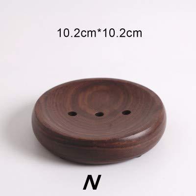 Attraktives Tablett Aus Holz (STARKWALL Natürliche Bambus Holz Drain Seife Tablett Küche Badezimmer Spüle Seifenkiste Organisation Aufbewahrung Racks Halter N)