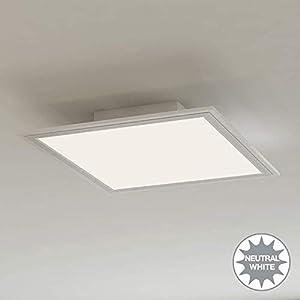 Briloner Leuchten – LED Deckenleuchte-Panel, LED-Lampe, Wohnzimmer-lampe, Deckenlampe, Deckenstrahler, 12W, quadratisch…