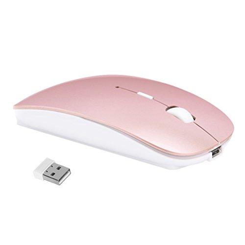 Kabellose Maus - Szyee Slim 2.4G Wireless Maus USB Nano Empfänger Drahtlose Maus Lade die Maus Bewege die Maus Optische Maus für Laptops...