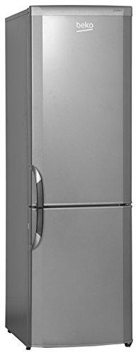 Beko CSA 29022 Kühl-Gefrier-Kombi / A+ / 175 L Kühlteil / 62 L Gefrierteil / 257 kWh/Jahr / silber / Automatische Abtauung / Flaschenhalter / 3 Gefrierfächer