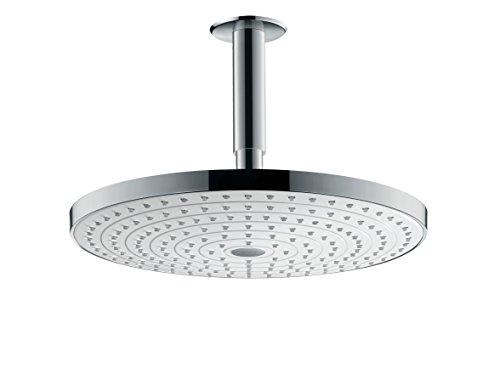 hansgrohe Raindance Select S 300 Kopfbrause, Deckenmontage, 2 Strahlarten, weiß/chrom